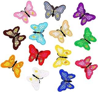 Jixista Farfalle Toppe Termoadesive Toppe Farfalla da Stirare Applique Ricamo Farfalla Patch Adesivi Ricamato Distintivi i...