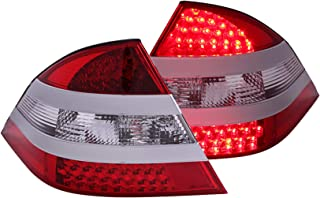 Anzo USA 321086 Mercedes-Benz Red/Clear Mid-Silver LED Tail Light Assembly - (Sold in Pairs)