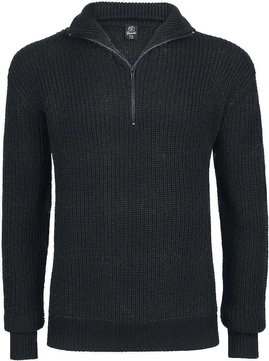 Brandit Marine Pullover Troyer Black size 4XL