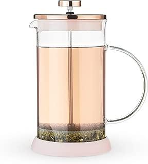 Pinky Up 8082 Riley Glass Tea Press Pot, Pink