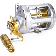 One Bass Fishing Reels Level Wind Trolling Reel Conventional Jigging Reel for Saltwater Big Game...