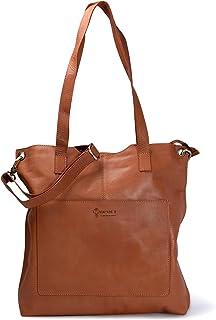 VINTAGE9 Leather Tote Bag - Sunflower, Tan