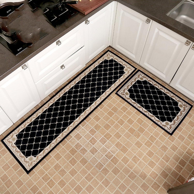Non-Slip Kitchen Mat, Soft Balcony Corridor Doorway Carpet, Washable Bathroom Mat, Fast Drying, 1 Piece-C 50x180cm(20x71inch)