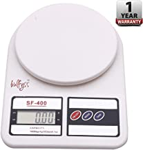 Bulfyss Electronic Kitchen Digital Weighing Scale (10 Kg) - White