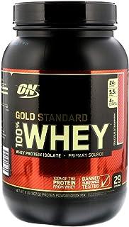 مسحوق واي بروتين غولد ستاندرد 100% بالفراولة من اوبتيموم نوتريشن، 2 باوند