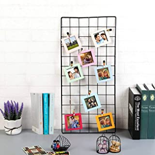 Art Street DIY Metal Photo Grid Wall for Photo Hanging,Photo Collage, Wall Decoration with Photo Clips (Black, 2 ft x 1 ft)