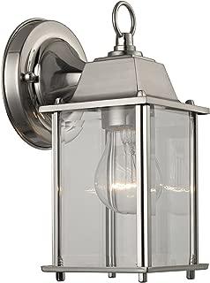 Cornerstone Lighting 9231EW/80 1 Light Outdoor Wall Sconce, Brushed Nickel