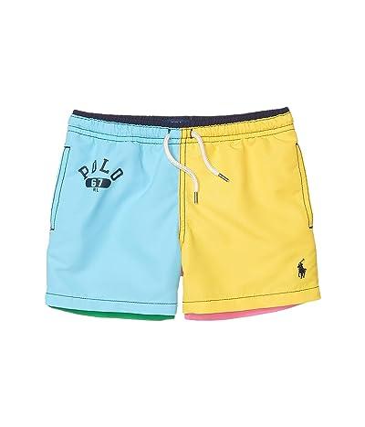 Polo Ralph Lauren Kids Traveler Swim Trunks (Little Kids) (Color-Block Multi) Boy