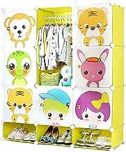 Wardrobe Closets Depth Cube Storage Storage Organizer With Doors And Shoe Cabinet 9 Cubes Multi-use Closet Wardrobe (Color...