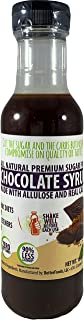 Sugar Free Chocolate Syrup Made with Allulose (All Natural Non-GMO Low Calorie Zero Net Carb Keto Diabetic Friendly No Sugar Alcohol Soy Free Gluten Free Dessert Breakfast Pancake Syrup)