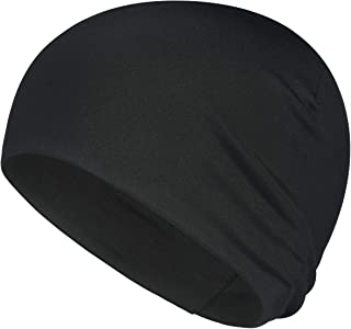 QINGLONGLIN Skull Cap for Men Women Sweat Wicking Helmet Liner Winter Running Slouchy Beanie