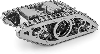 Time 4 Machine Marvel Tank Car Metal 3D Assembly Puzzle Mechanical Model Gears Self-Assembly Kit Construction Set DIY Brain Teaser Toy for Kids and Adults