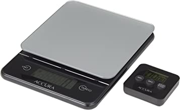 ACCURA ACC5017BK Hebe Scale and Timer Set, Black