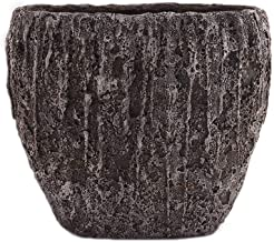 Little Green House Cement Brown Vase - Large