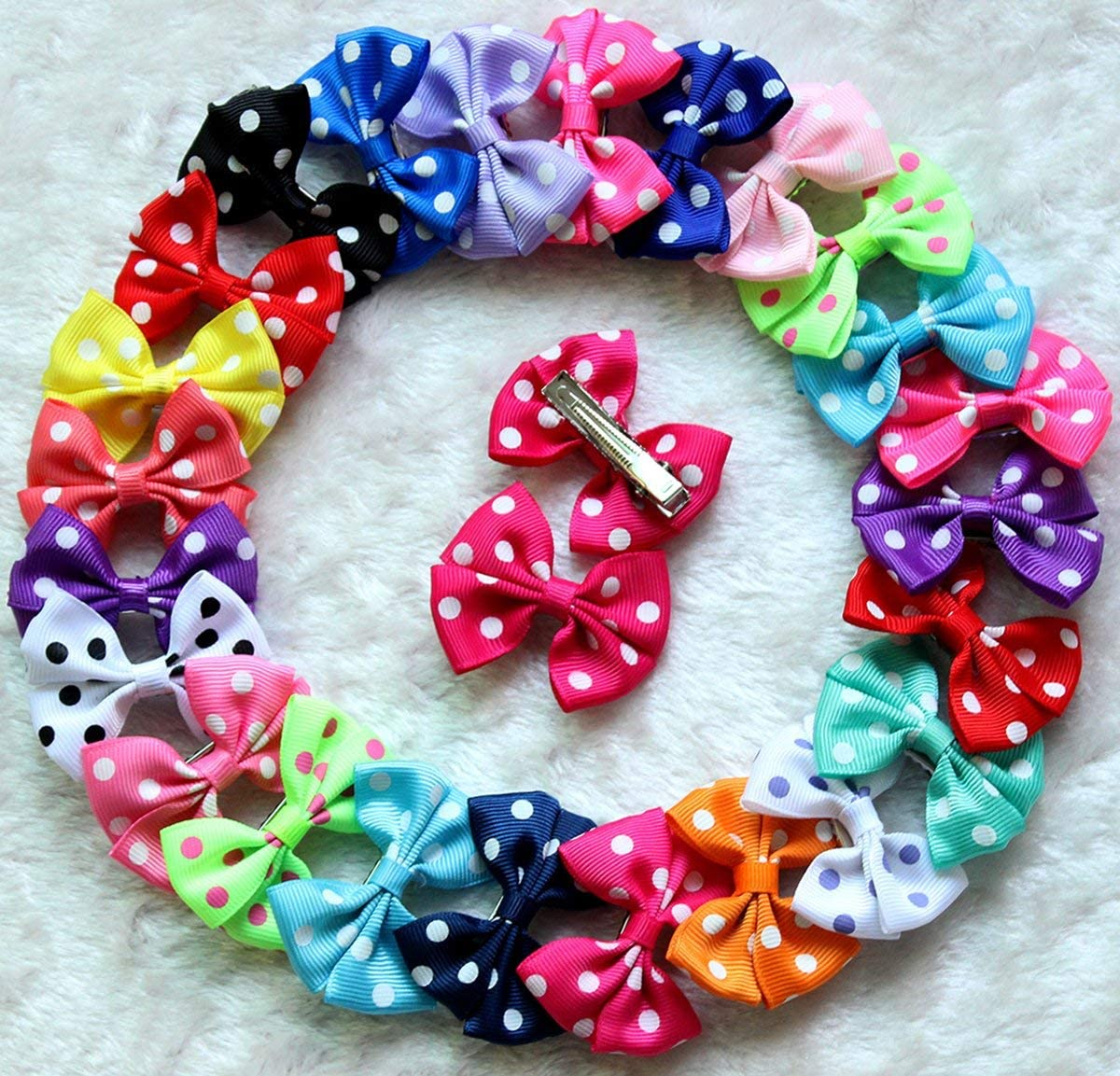 yagopet 30pcs 15pairs Dog Hair Clips T 67% OFF of Regular store fixed price inches Bows 2 Bowknot