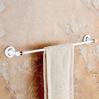 vertice バスルームアクセサリー タオルホルダー タオルバー タオルラック タオル棚 シングルコッパーウォールペイント ホワイト