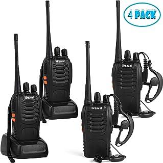Greaval Rechargeable Walkie Talkies 4 Pack Long Range 2 Way Radio Handheld 16-CH Two Way Radios (Pack of 4)