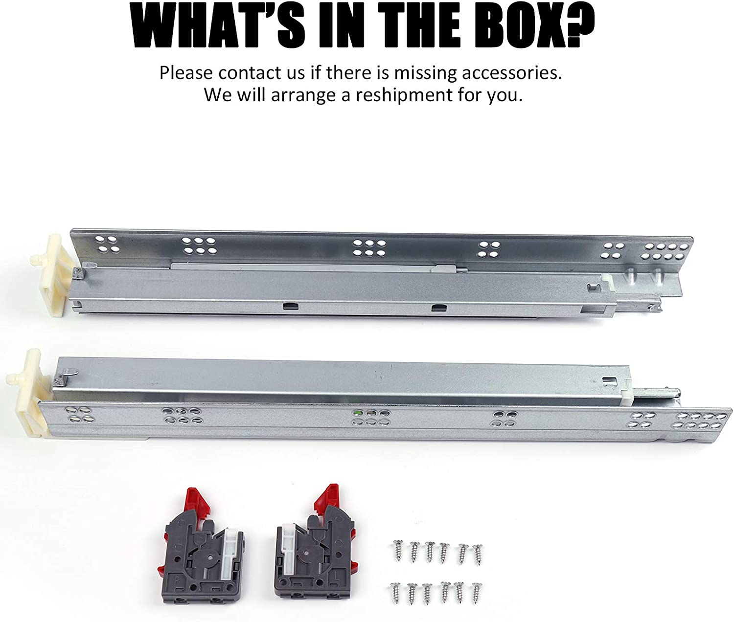 5 Pair=10 Pcs Undermount Drawer Runners-Heavy Duty 85lb Capacity Rails-Mounting Brackets Included 5 Pair 18 inch Soft Closing Full Extension Drawer Slides