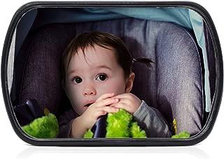 CARTO Espejo retrovisor de coche para bebés, pivotante, 16,
