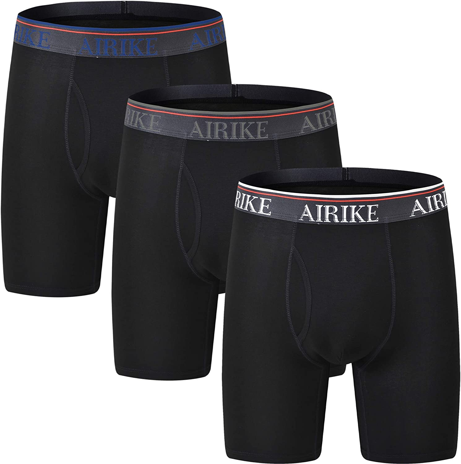 2021 model AjezMax Mens Boxer Briefs Long Leg Big Underwear and Regular discount Tall Pack S