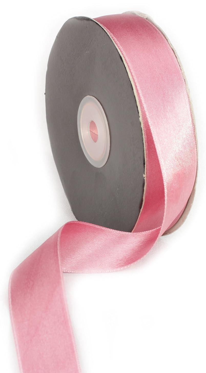 Ampelco Ribbon Company Double Face Satin Ribbon Company, 1-Inch by 27-Yard, Dusty Rose