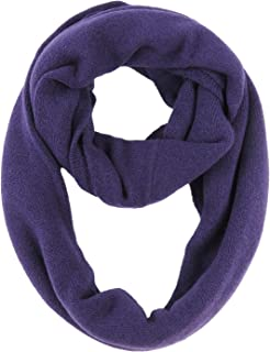 Phaiy Cashmere Lightweight Plain Infinity Scarf Winter Warm Soft Loop Scarf for Women Men