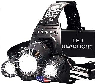 DanForce Headlamp. USB Rechargeable LED Head Lamp. Ultra Bright CREE 1080 Lumen Head Flashlight + Red Light. HeadLamps for...