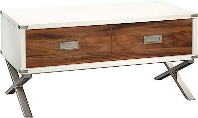 """Sauder Vista Key Lift-top Coffee Table, L: 39.21"""" x W: 19.69"""" x H: 18.78"""", Pearl Oak"""