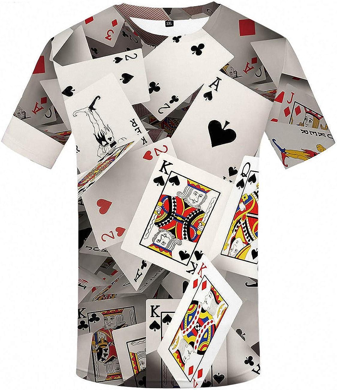 poker Cards Casino Novelty Vintage Art Men/'s T-Shirt//Tank Top n39m