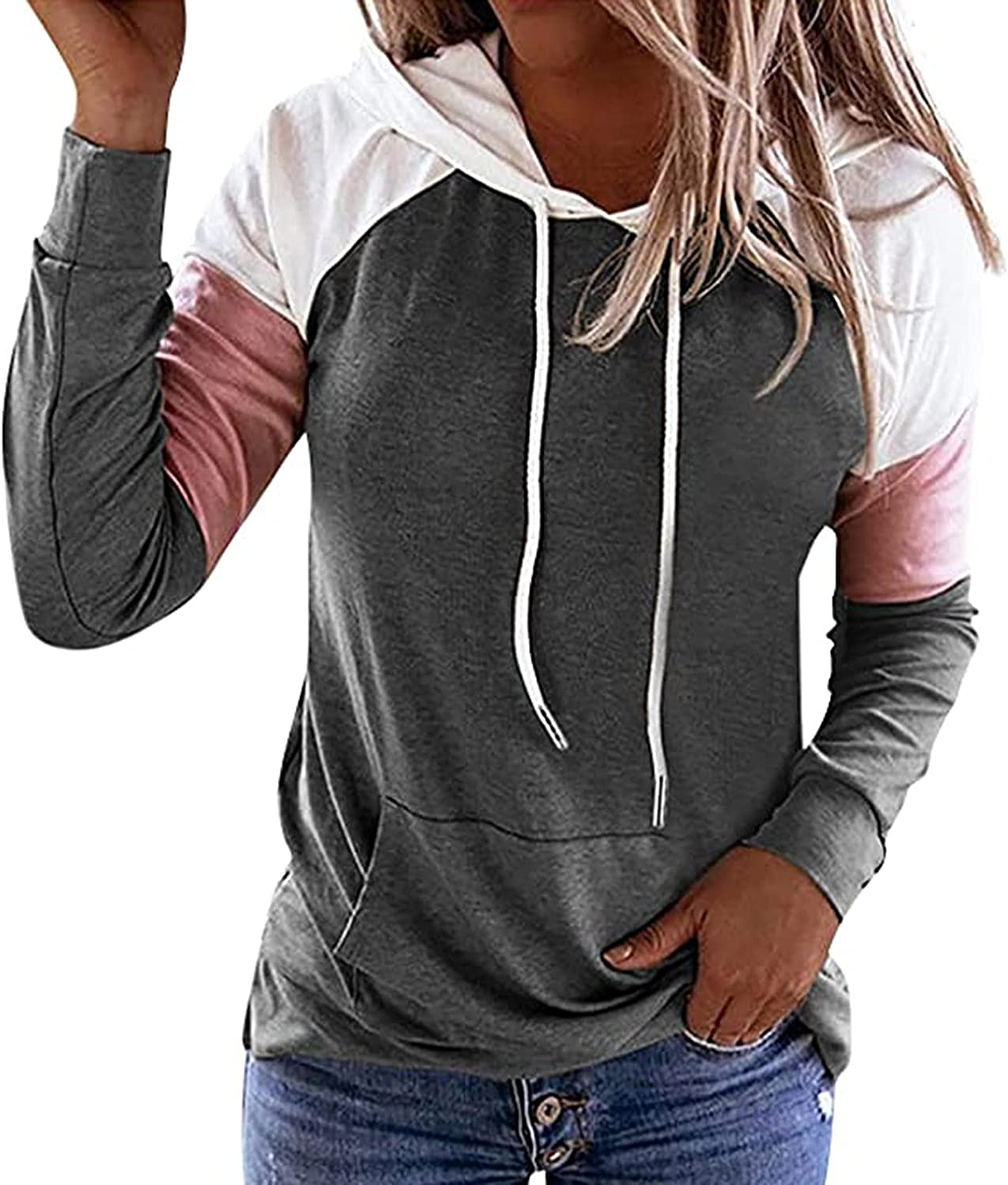 Juniors New Free Shipping Women's Patchwork Hoodies Casua T-Shirt Long Sleeve We OFFer at cheap prices