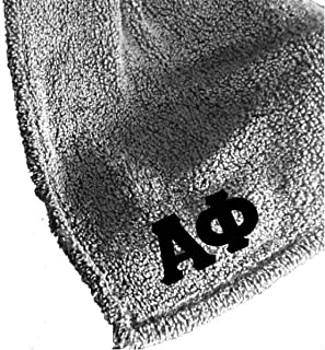 M&D Sorority Gifts Alpha Phi Sherpa Blanket (Stitched Greek Letters) Recommended Alpha Phi Gift