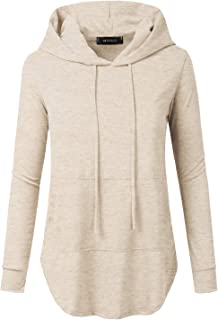 ce4dede4240 Doublju Loose Fit Pullover Hoodie with Kangaroo Pocket for Womens with Plus  Size
