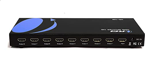 OREI HD-108 1x8 8 Ports HDMI Powered Splitter for Full HD 1080P & 3D Support (One Input To Eight Outputs)