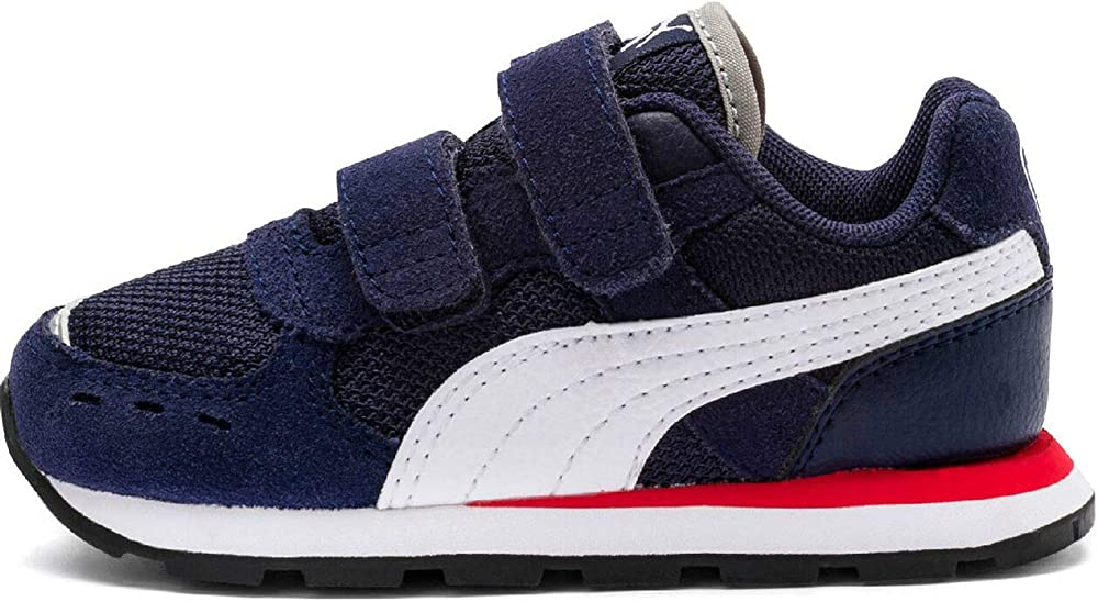 Puma vista v ps, scarpe da ginnastica unisex-bambini ,in pelle scamosciata e tessuto,sneakers 369540