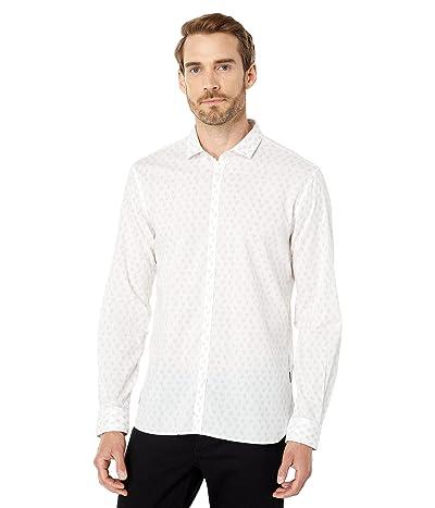 John Varvatos Star U.S.A. Fulton Slim Fit Long Sleeve Sport Shirt Button Closure Shirt Tail Hem W671X1B