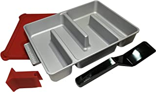 Baker's Edge - Edge Brownie Pan Complete Set - Includes Pan, Lid, Wedge, and Spatula