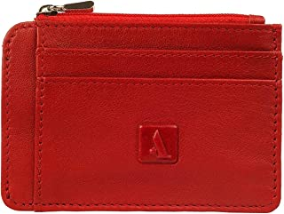 Adamis Full Grain Leather Credit Card Holder, Business Card Organizer and Wallet for Men and Women with 2 Large Card Slots...