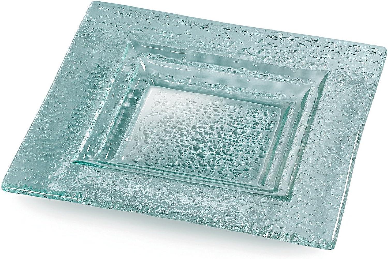 Rosseto 12-Inch Square Glass Platter
