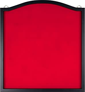 Trademark Games Dart Backboard - Wood Frame and Felt Wall Protector and Board Surround for Amateur and Intermediate Players (Black and Red)