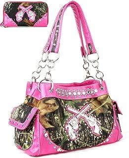 GoCowgirl Women's Crossed Guns Pistols Purse Handbag Wallet in Multi-Color