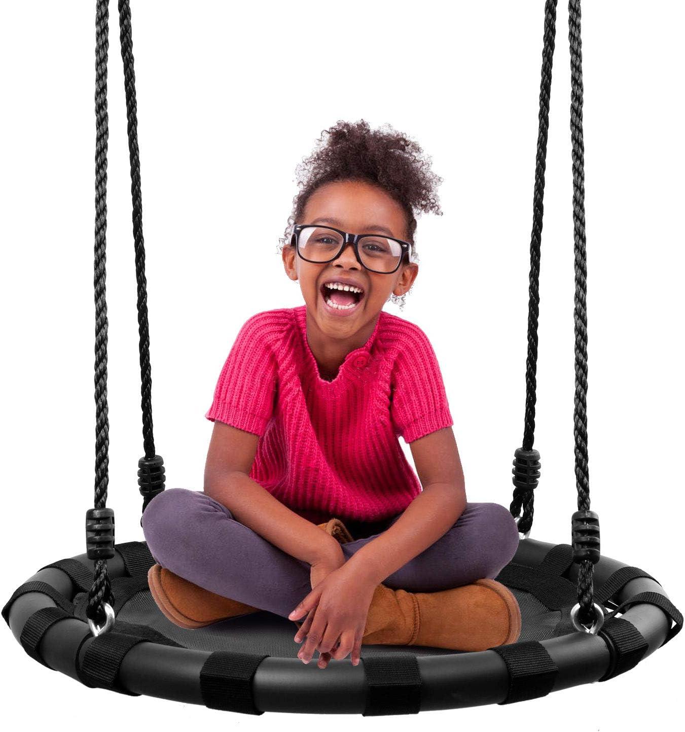 "Odoland 24"" Tree Swing Set for Kids - Outdoor/Indoor Round"