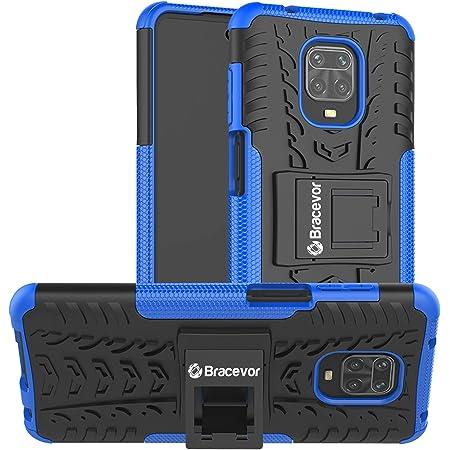 Bracevor Hybrid Back Cover Kickstand Case for Xiaomi Mi Redmi Note 9 Pro | Redmi Note 9 Pro Max | Poco M2 Pro - Blue | Rugged Defender