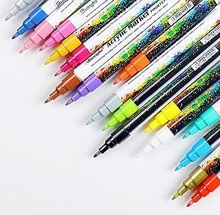 18 Colors 0.7mm Acrylic Paint Marker Pen for Ceramic Rock Glass Porcelain Mug Wood Fabric Canvas Painting