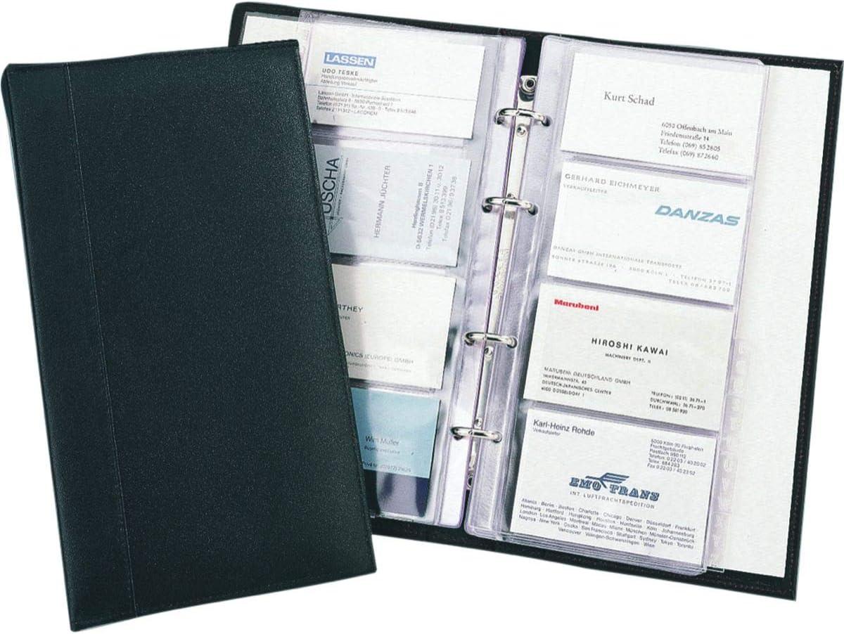 Alassio New product! New type Visitenkarten Ringbuch aus feinem Award A- Register Leder mit