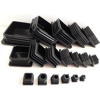 5 Stck Quadratstopfen 70x70 mm Schwarz Kunststoff Endkappen Verschlusskappen