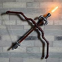 Modeen 1-Light Vintage Industrial Retro Tube Wall Lamp Creative Metal Cupid Bow Arrow Water Pipe Wall Light Bar Restaurant...
