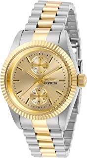 Invicta Women's Specialty Quartz Gold Dial Two Tone Stainless Steel Watch 29443