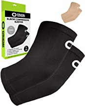 Elbow Brace Compression Sleeve (1 Pair) – Instant Arm Support Elbow Sleeves for..
