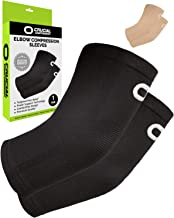 Elbow Brace Compression Sleeve (1 Pair) - Instant Arm Support Elbow Sleeves for Tendonitis, Arthritis, Bursitis, Golfers & Tennis Elbow Brace, Treatment, Workouts, Weightlifting, Pain Relief, Recovery