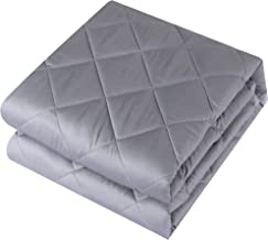easyum Weighted Blanket Pro for Adult(15 lbs, 60''x80'', Queen Size),Heavy Blanket,100% Cotton Material with Glass Beads